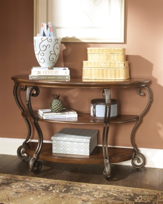 Nestor SofaConsole Table Ashley Furniture HomeStore