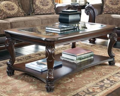 Norcastle Coffee Table by Ashley HomeStore, Dark Brown