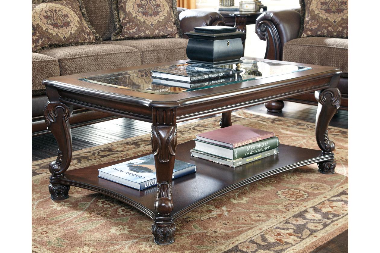 Ashley Glass Coffee Table.Norcastle Coffee Table Ashley Furniture Homestore