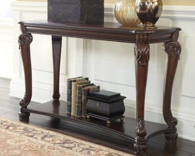 Norcastle Sofa/Console Table by Ashley HomeStore, Dark Brown