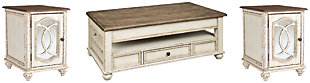 Realyn Coffee Table with 2 End Tables, , large