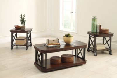 Vinasville Table (Set of 3) by Ashley HomeStore, Medium B...