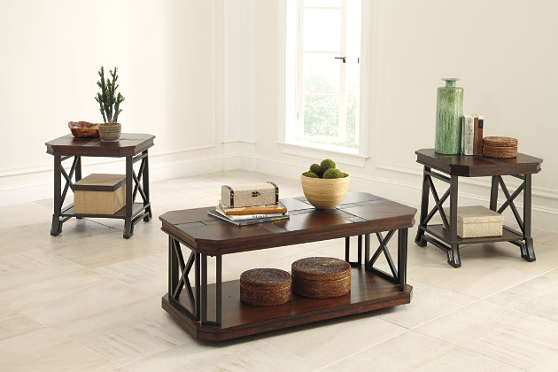 Vinasville Table (Set of 3) by Ashley HomeStore, Brown