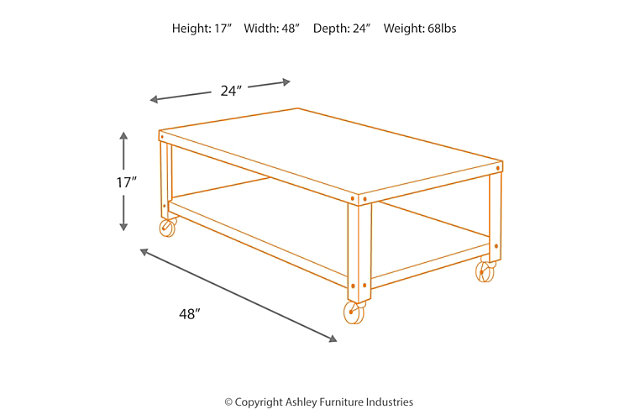 Hattney Coffee Table, , large