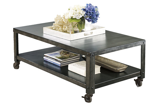 Table on a white background - Hattney Coffee Table Ashley Furniture HomeStore