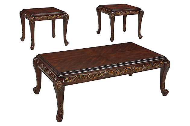 Florrilyn Table (Set of 3) by Ashley HomeStore, Brown
