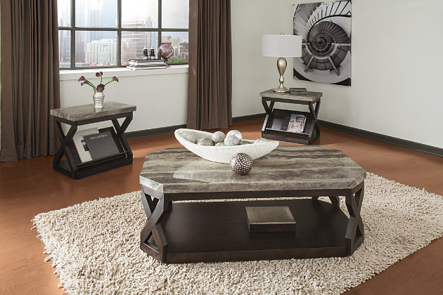 Radilyn Table (Set of 3) by Ashley HomeStore, Brown