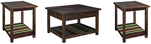 Mestler Coffee Table with 2 End Tables, , large
