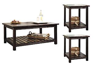 Groovy Mestler 3 Piece Table Set Ashley Furniture Homestore Beatyapartments Chair Design Images Beatyapartmentscom