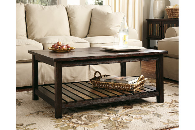 Mestler Coffee Table Ashley Furniture HomeStore - Rectangular cocktail table by ashley furniture