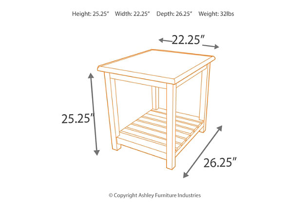 Mestler End Table, , large