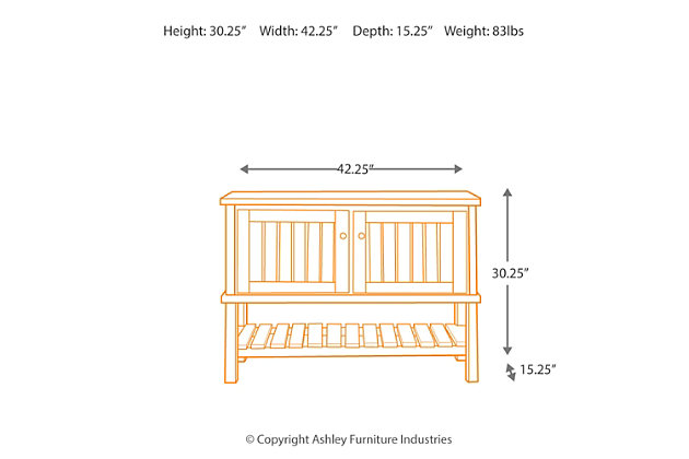 Mestler Sofa/Console Table, , large