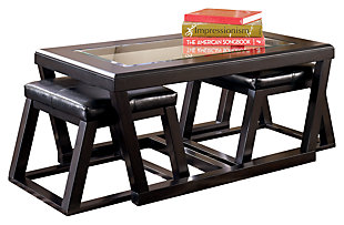 Kelton Coffee Table with Nesting Stools, , large
