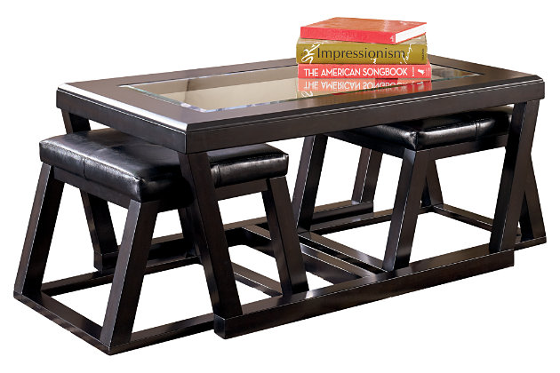 Kelton Coffee Table With Nesting Stools Ashley Furniture