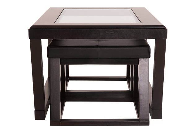 Kelton Coffee Table With Nesting Stools Ashley Furniture Homestore