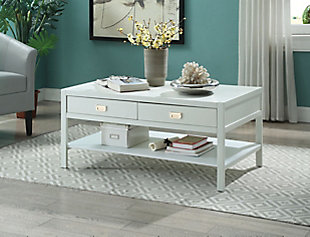 Piper Coffee Table, White, large