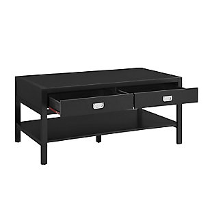Piper Coffee Table, Black, large