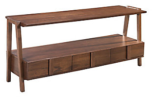 Rich Walnut Veneer Media Console, , large