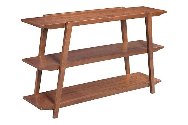 Rich Walnut Veneer Console Table, , large