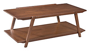Rich Walnut Veneer Coffee Table, , large