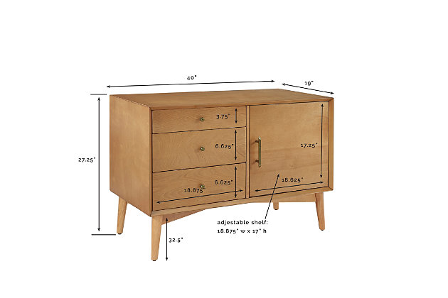 "Media 40"" TV Stand, Acorn, large"