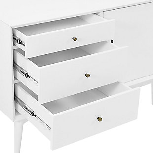 """Media 40"""" TV Stand, White, large"""