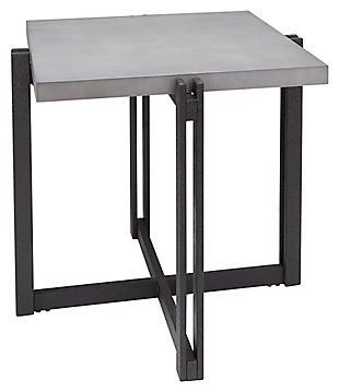 Square End Table, Concrete, large