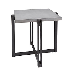 Square End Table, Concrete, rollover