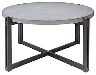 Large Round Coffee Table, Concrete, large