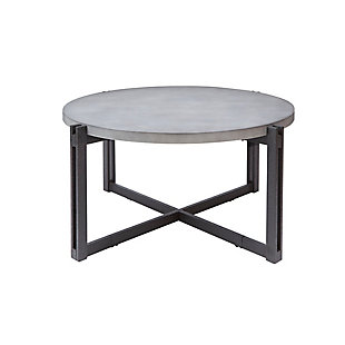 Large Round Coffee Table, Concrete, rollover