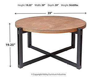 Large Round Coffee Table, Natural, large