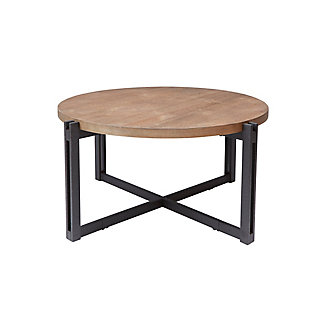 Large Round Coffee Table, Natural, rollover