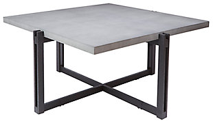 Large Square Coffee Table, Concrete, large