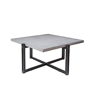 Large Square Coffee Table, Concrete, rollover