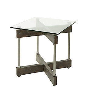Glass Top End Table, , rollover