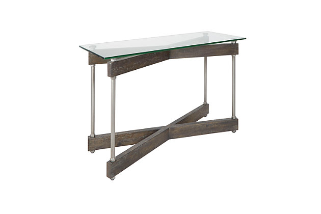 Glass Top Console Table, , large