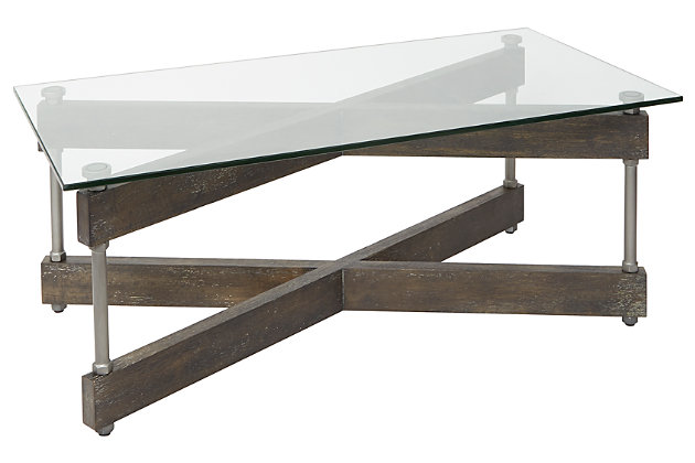 Cheyenne Glass Top Coffee Table Ashley Furniture Homestore