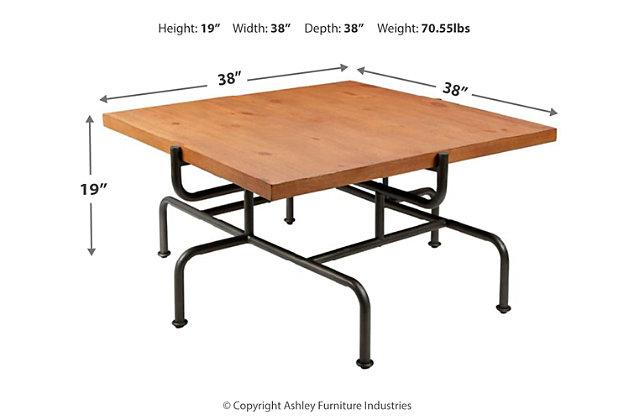 Brass Metal Coffee Table, , large