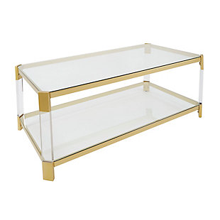 Golden Finish Coffee Table, , rollover