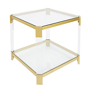 Golden Finish End Table, , rollover