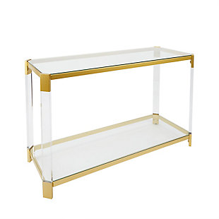 Golden Finish Console Table, , rollover