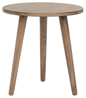 Round Accent Table, Brown, large