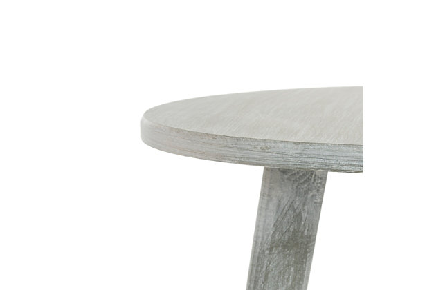 Round Accent Table, Gray, large