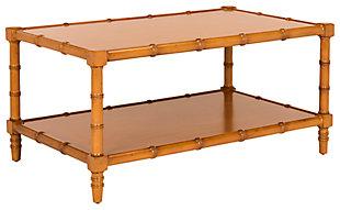 Bamboo Style Coastal Coffee Table, , large