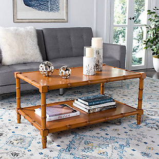 Bamboo Style Coastal Coffee Table, , rollover