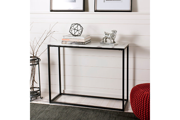 Faux Marble Console Table, , large