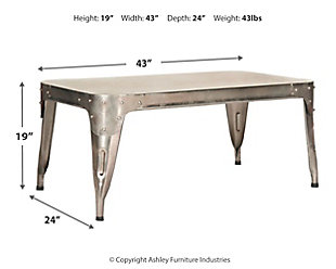 Iron Coffee Table, , large