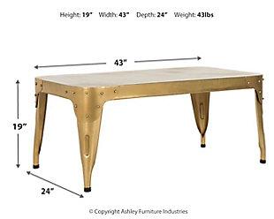 Iron Coffee Table, , large