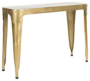 Iron Console Table, Gold, large