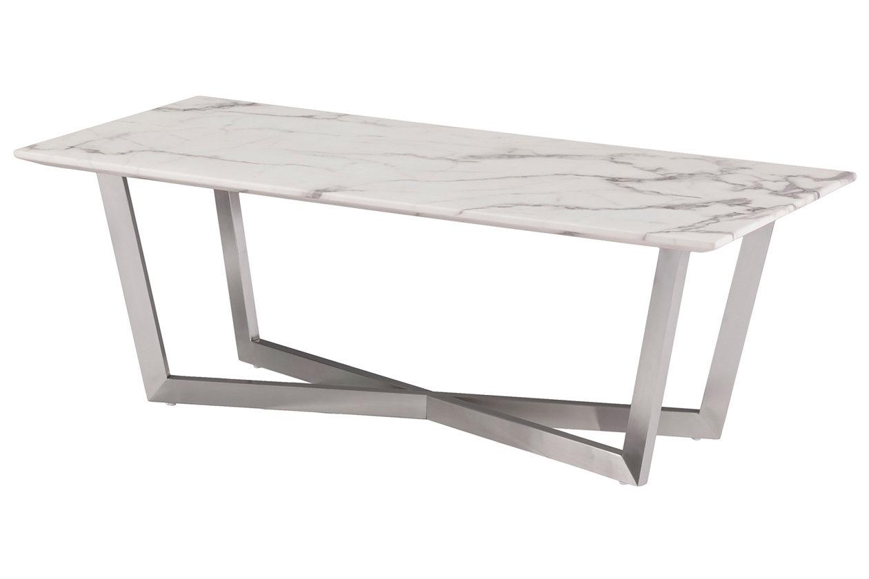 Southern Enterprises Faux Marble Coffee Table Ashley Furniture Homestore
